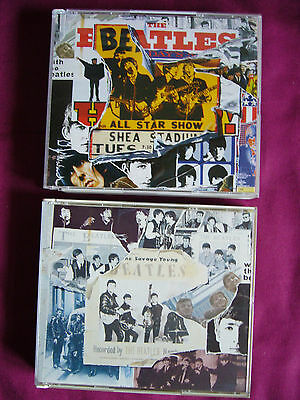 "LOT 2 DOUBLE  CD "" BEATLES ANTHOLOGY  / VOL. 1 et 2 ""  ."