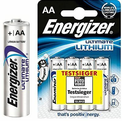 4 x Energizer 1.5v Ultimate Lithium AA Batteries L91 LR6 Long Expiry