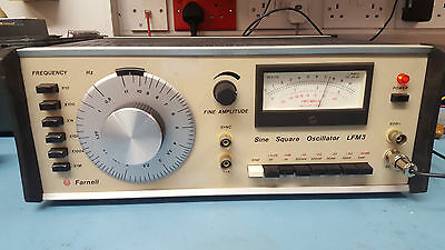 Farnell LFM-3 Sine and square wave function generator 10Hz to 10Mhz
