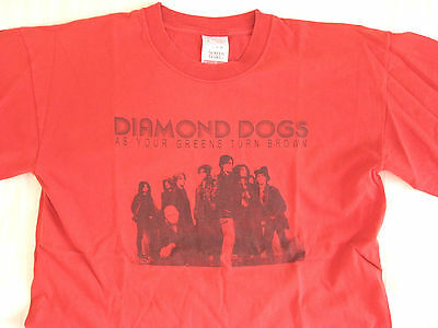 Diamond Dogs Original 2001 Tour Shirt As Your Green Johnny Thunders Hellacopters