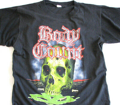 Authentic RARE 1992 Body Count T-shirt vintage metal Ice-T Anthrax Public Enemy