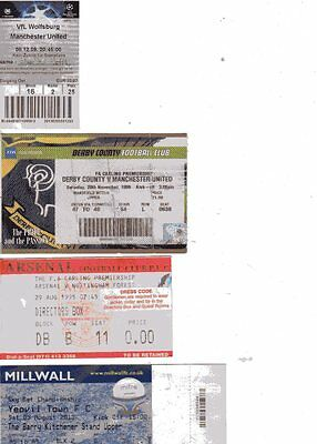 Used Ticket - Wolfsburg v Manchester United 8.12.2009 Champions League