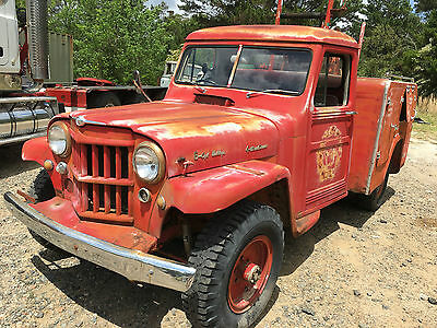 Very Rare Willys Jeep Fire Truck 1955  8700 Original Miles ,  Collectable Gem .