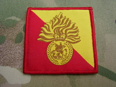 Royal Fusiliers RRF Army Cap/Beret Badge On Regiment ID TRF Combat Jacket Patch