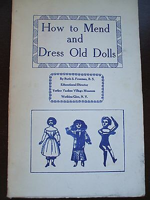 How to Mend and Dress Old Dolls paperback American book 1960 signed