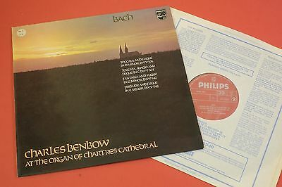 6599368 Charles Benbow at the Organ of Chartres Cathedral Bach PHILIPS LP