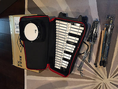 Pre Owned Vic Firth Xylophone V8806 Case, Stand, Practice Drum Percussion Set