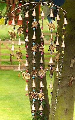 Fab New Fair Trade Large Elephant Beads Bells Chimes Garden Hippie Boho Gypsy