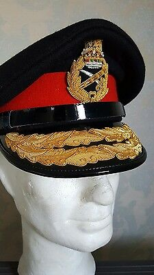 british army generals no1 dress cap moulded complete bullion cap badge size 58