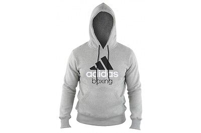 Adidas Boxing Hoody Grey Or Green Cotton Gym Or Casual Hoodie Mens Ladies Kids