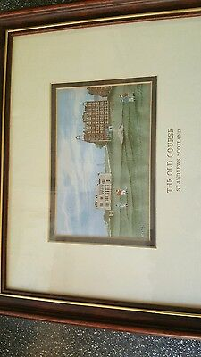 """Cash's Silk  Old Course St. Andrews - 12 3/8"""" x  10"""""""