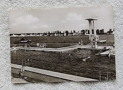 Real Photo Postcard - BRITISH RHINE ARMY H.Q. RHELNDAHLEN, Swimming Pool