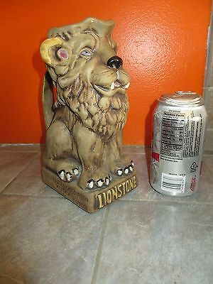 Vintage LIONSTONE Kentucky Straight Bourbon WHISKEY Lion Pitcher 1973
