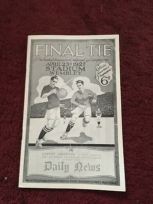 Arsenal v Cardiff City 1927 FA CUP FINAL REPRODUCTION PROGRAMME