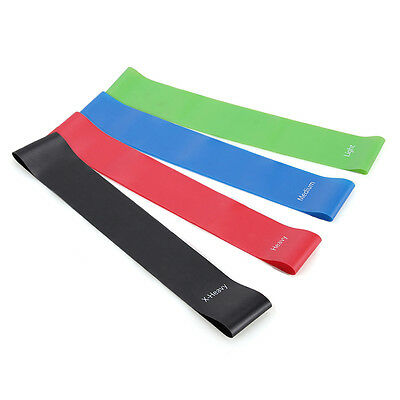 marsboy Resistance Bands- Set Of 4 Loop Fitness Exercise Bands For Legs And Arms