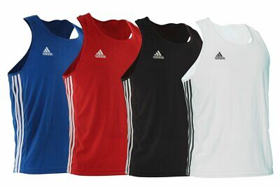 Adidas Base Punch Boxing Vest Lightweight Climalite Sleeveless Top Gym Mens Kids