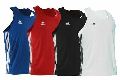 Adidas Boxing Vest Base Punch Lightweight Climalite Sleeveless Top Gym Mens Kids