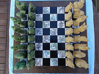 Chinese Chess Set With Inlay Tiles