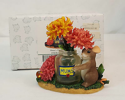 Charming Tails MUMS THE WORD Blossoming Gems Mackenzie Mouse Figurine 89/230 NIB