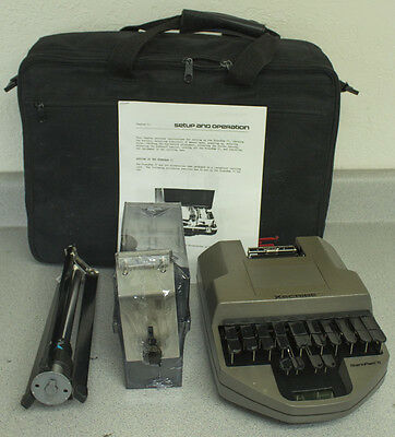 XScribe StenoRam II w/ Paper Tray, Tripod, Manual, Ink Ribbon & Stenograph Case