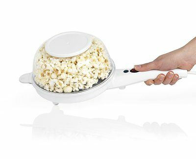 Giles & Posner EK2204 Healthy Fat Free Electric Popcorn Maker with Bowl for Fun