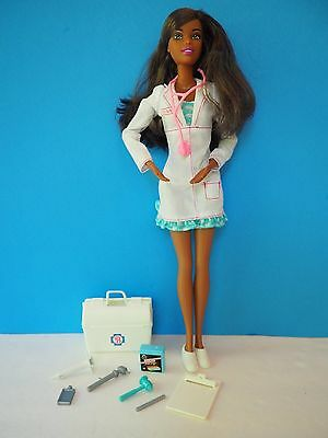 1990 African American Doctor Barbie with Bag and Instruments