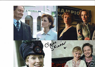 Claire Skinner British Actress  Hand Signed Photograph 10 x 8