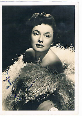 Ruth Roman - Actress -  Hand Signed Photograph size 7 x 5 inches