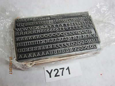 1/4'' Letterpress Movable Type Set Alphabet, Numbers and Common Punctuation
