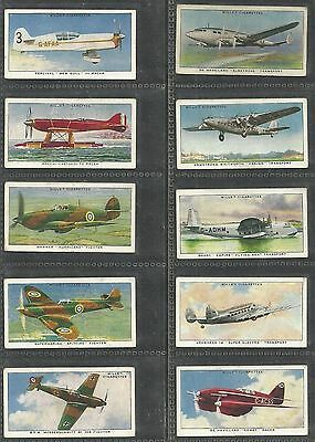 Cigarette Cards Wills 1938 Speed - Full Set Of 50 Loose