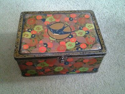 Vintage Blue Bird luxury assortment toffee tin