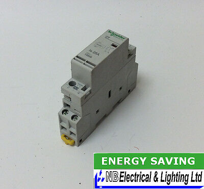 Schneider 25 Amp Contactor 2 Pole 1 Mod 230V Coil Normally Open Contacts (S145)