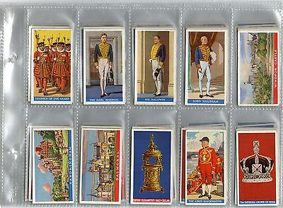 Coronation of Their Majesties 1937 Complete set of 50 cigarette Cards