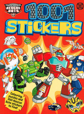 Transformers 1001 Stickers BRAND NEW BOOK by Hasbro Colouring puzzle Rescue Bots