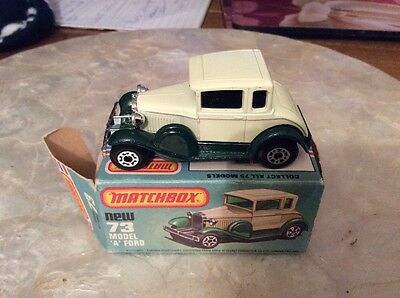 Matchbox Car 73 Model A Ford , In Box