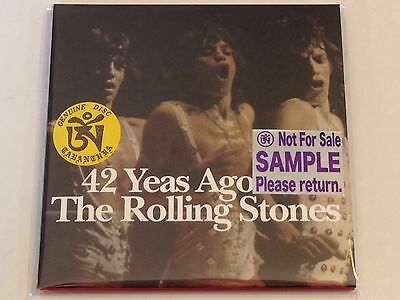 """The Rolling Stones """" 42 Yeas Ago """" 2 Cd, Sample, Extremely Rare!!!"""