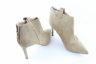 Womens Light Beige River Island Ankle Boots Suede Stiletto Heel Size 7 UK