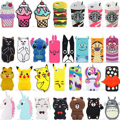 Hot 3D Soft Silicone Rubber Cute Animal Cartoon Phone Case Cover Back For Huawei