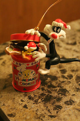 Vtg 97 Looney Tunes Sylvester Tweety Cookie Jar Christmas Tree Ornament