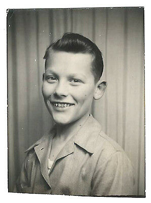 Vintage photo photograph portrait American very handsome boy photo booth
