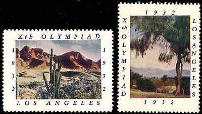 Poster Stamp - Olympics - 1932 Los Angeles - DuBois #36 - Two Different