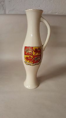 Crested China Oxford Vase with Arms of Wales