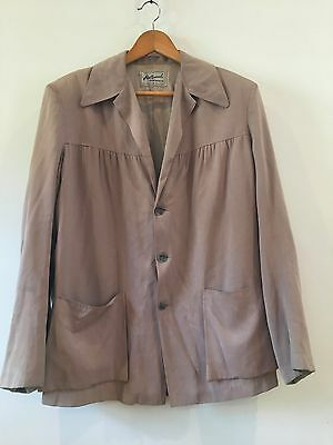 Original 1950s 40s Hollywood Sportswear Vintage Jacket Coat Rockabilly XL