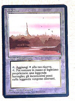 MTG MAGIC THE GATHERING KARAKAS LEGEND ITALIAN terra leggendaria NEAR MINT