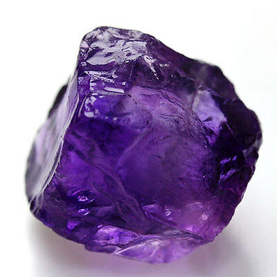 10.0 Ct. Deep Purple Amethyst 100% Natural Rough Gemstone Unheated Free Ship!