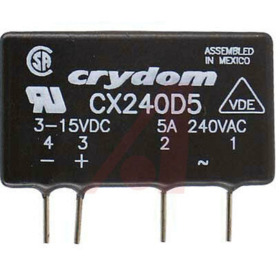 Crydom CX240D5 Solid State Relay Input 3-5VDC Output 280VAC@5A