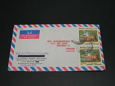 Pakistan 1970 airmail cover to Finland *8586