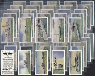 Our Navy 1937 Cigarette Cards Carreras Complete Set Of 50 Cards