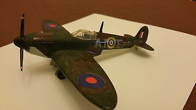 Dinky Toys Spitfire MK II 719 Good Condition with Propeller Motor