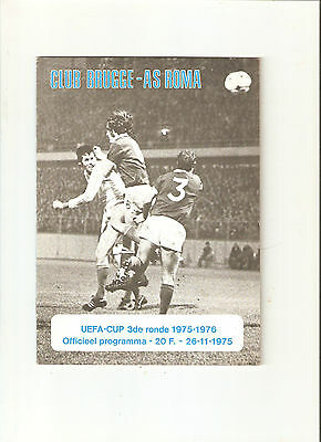 1975/6  Brugge v  AS Roma  (UEFA Cup)